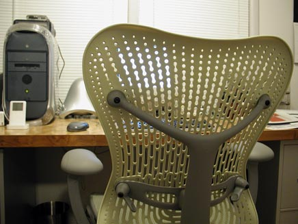 Mirra Chair: in front of computer