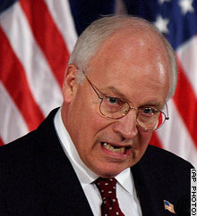 Cheney, trying to scare Americans
