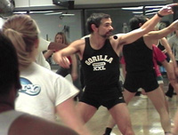 Jonas' Teaching Aerobics Class at the UofM CCRB