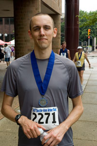 Stephen McKenna after finishing the Dexter Ann Arbor Run 2007