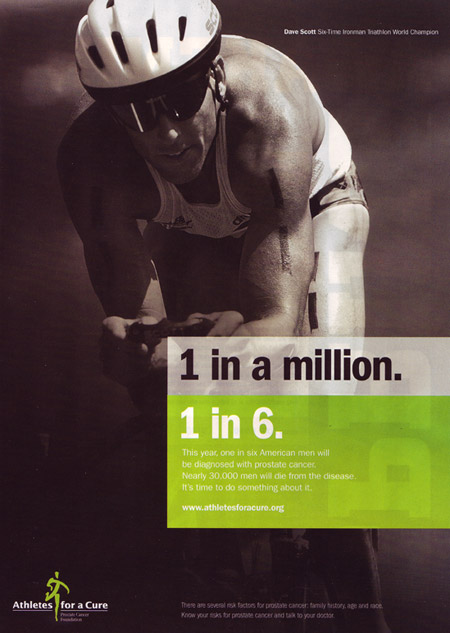 Athletes for a cure ad